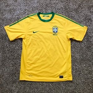 Nike Brazil Soccer Football Dri Fit Shirt Jersey